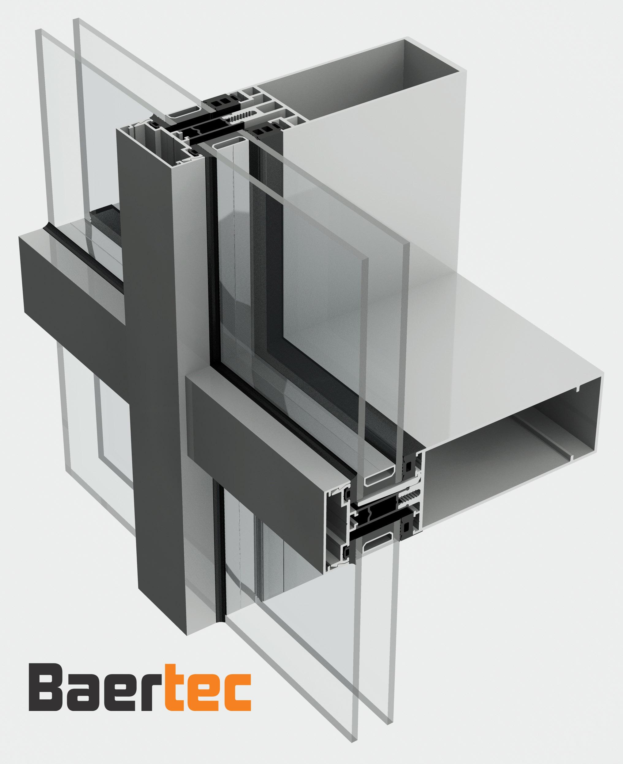 Aluminium profile curtain walling system