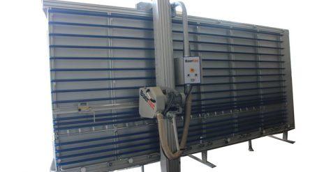 Vertical aluminium composite panel cutting and grooving machine